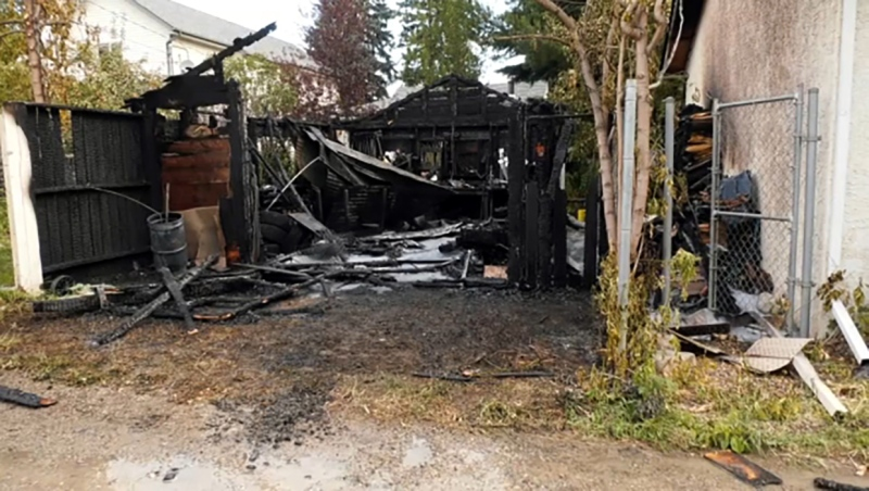 Calgary firefighters limited a northeast Calgary garage fire to a single structure early Saturday morning.