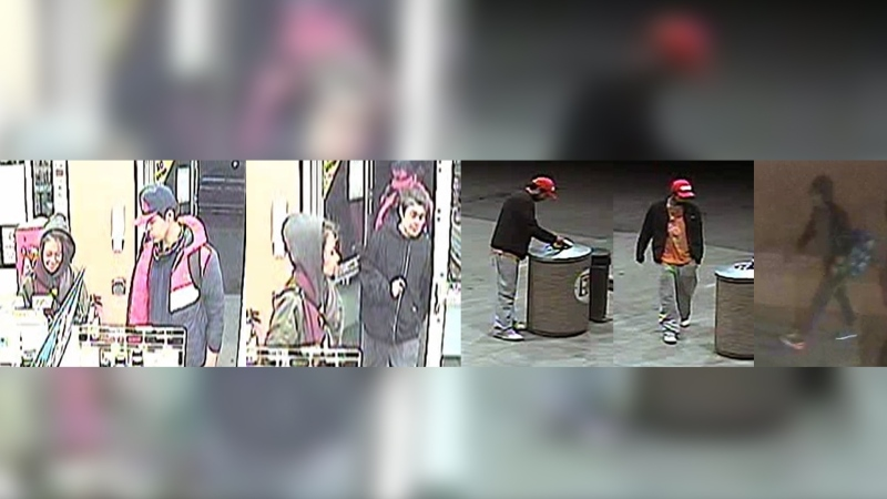 Edmonton police released a photo of several people who are of interest in connection with the death of man following an assault. (EPS)