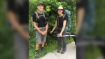 Since last year the pair has hiked 5,000 kilometres and say they still have 19,000 to go. They say the highlights along the way vary from region to region. Aug.8/2020 (Molly Frommer/CTV News Northern Ontario)