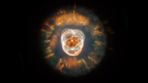 """Seen in this NASA photo, nebula NGC 2392 is no longer called the """"Eskimo Nebula,"""" an offensive term. It is about 5,000 light years away. (NASA/CNN)"""