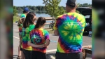 The 20th anniversary of the Kayaking for Cancer event was cancelled this year due to the COVID-19 pandemic. Participants gathered in Kingston on Saturday to remember those who have died due to cancer. (Kimberley Johnson/CTV News Ottawa)