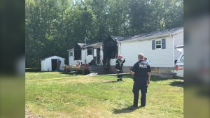Moncton fire crews say no one was living in the home at the time of the fire.  RCMP, fire investigators, and a detection dog were at the scene on Saturday sifting through what was left of the home.