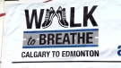 Walk to Breathe is the name of a fundraising campaign created by CTV Edmonton's Chris Sadleir, to raise funds for the Alberta Lung Association. Sadler's father received a double transplant four years ago.