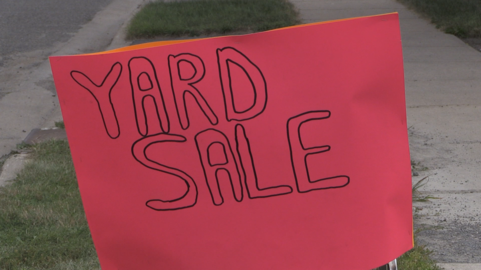 Lorie VanScoy hosts an annual fundraising yard sale with her group,