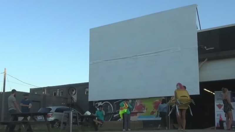 Youth centre offers drive-in movies