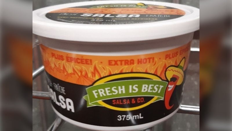 Among those products are seven varieties of salsa from Fresh is Best Salsa Co., in containers ranging in size from 220 millilitres to 2.2 litres. (Canadian Food Inspection Agency)