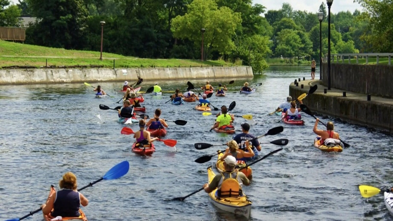 Kayaking for Cancer