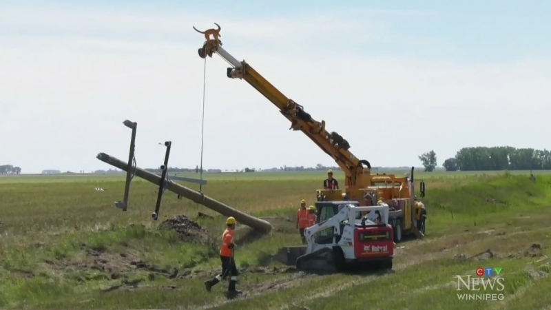 Virden, Man. cleaning up after tornado