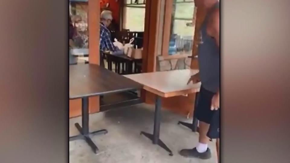 Video shows man berating restaurant staff