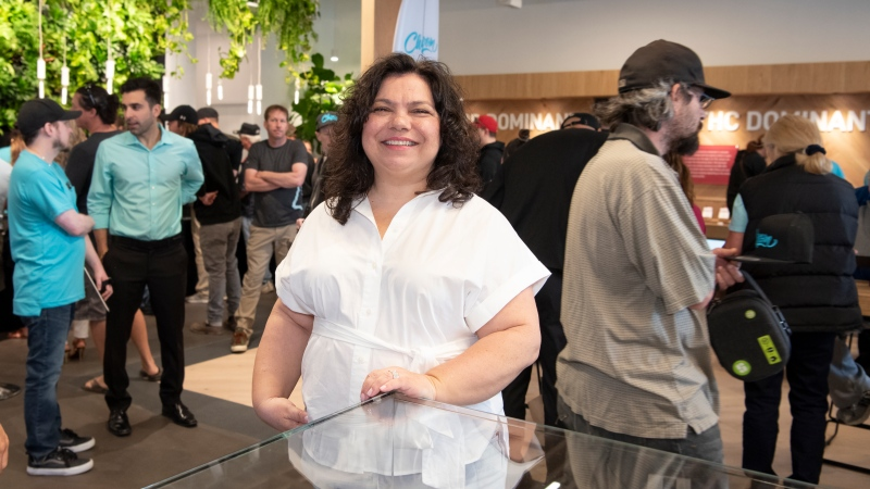 Lisa Bigioni is shown in a handout photo. Bigioni's cannabis store in Niagara Falls, Ont. has now been taken over by Choom Holdings Inc. in one of several transactions that has seen Ontario's first cannabis lottery winners walk away from stores they won the chance to open. (THE CANADIAN PRESS/HO-Michal Pasco)