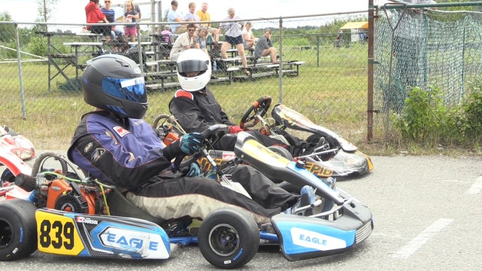 Drivers at Sudbury Kart Club say after almost a year without racing, they are happy to be back on the track. Aug.9/2020 (Molly Frommer/CTV News Northern Ontario)