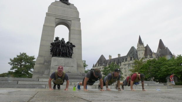 Team of Army veterans raise $30,000 during 175-kilometre walk from Petawawa to Ottawa
