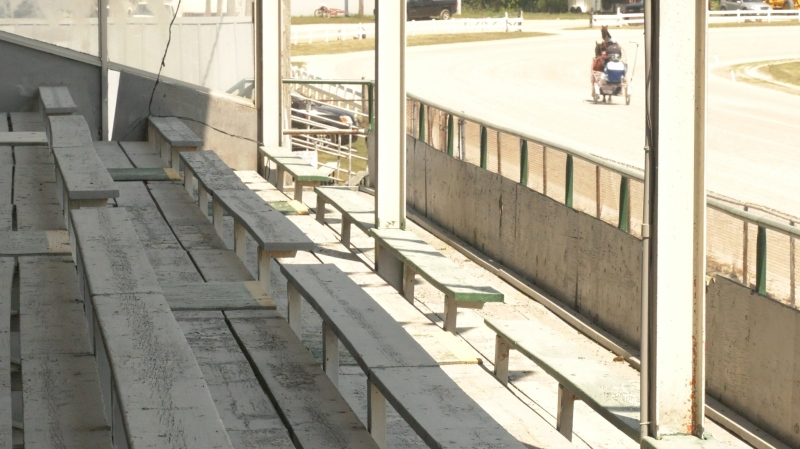 There were no fans or live betting at Leamington Raceway due to COVID-19 public health measures as the harness horse racing season opened in Essex County on Sunday, August 9, 2020. (Ricardo Veneza / CTV Windsor)