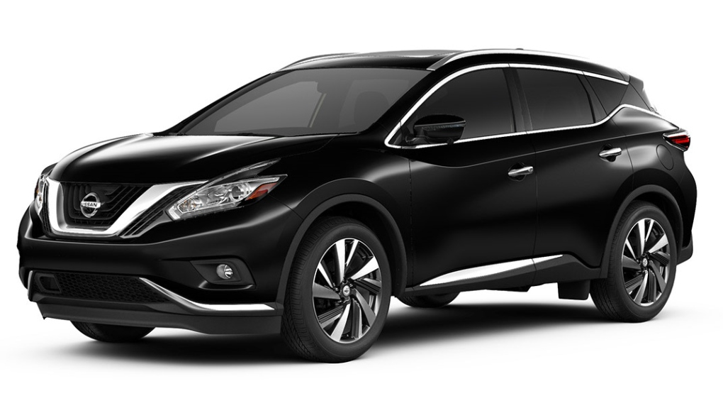 Stock photo of a black Nissan Murano.