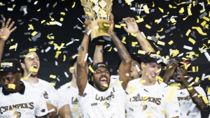 The Edmonton Stingers were named CEBL champions on Sunday, August 9. (Supplied: Edmonton Stingers)