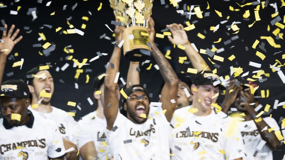 The Edmonton Stingers were named CEBL champions on Sunday, August 9. (Supplied: Edmonton Stingers)