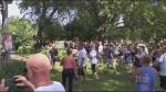 'Hugs Over Masks' event held in Kitchener