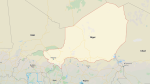 A map of NIger is seen in this image. (Google Maps)