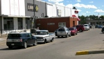 A fire Sunday forced the evacuation of 25-30 from this southeast Calgary strip mall