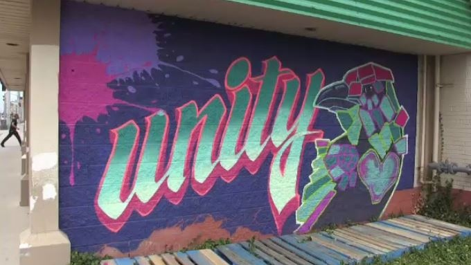 Central Fresh Market has started the first phase of its public art project by introducing a mural with positive message on the outside of the building.