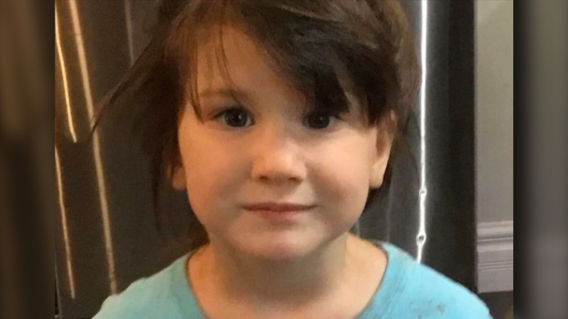 Four-year-old Lea Fiset who went missing on Sunday afternoon near Quebec City was found dead in a neighbour's pool around midnight. (Photo: Surete du Quebec)