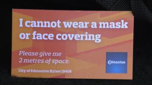Mask exemptions in Edmonton