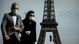 People in Paris aged 11 and over are now required to wear the masks in crowded areas and tourists hotspots. (AFP)