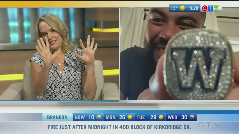 Blue Bombers' Grey Cup championship ring unveiled