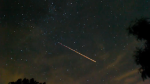 A screenshot from a timelapse video of the Perseid meteor shower as seen in the skies over Bryan, Texas, in Aug. 2012. (Credit: Storyful)
