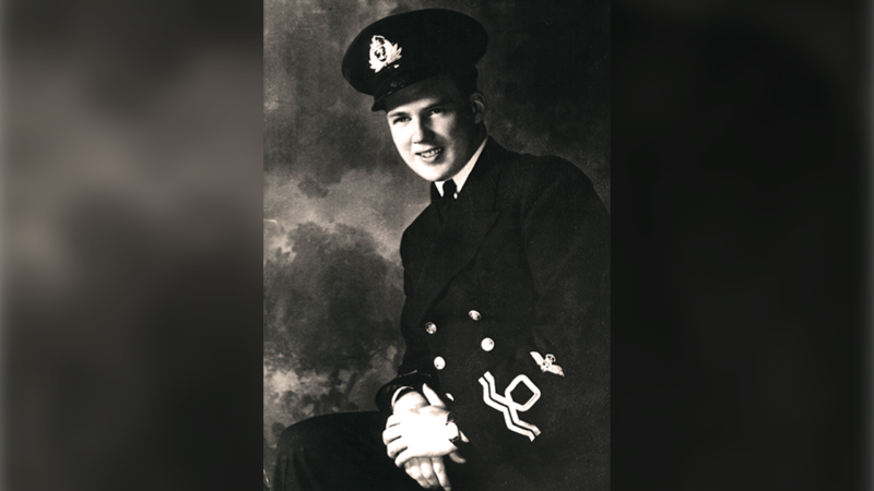 Lt. Robert Hampton Gray volunteered for the naval reserve in 1940, served as a pilot in the navy's fleet and embarked on HMS Formidable during the war in the Pacific in April 1945. (Department of National Defence)