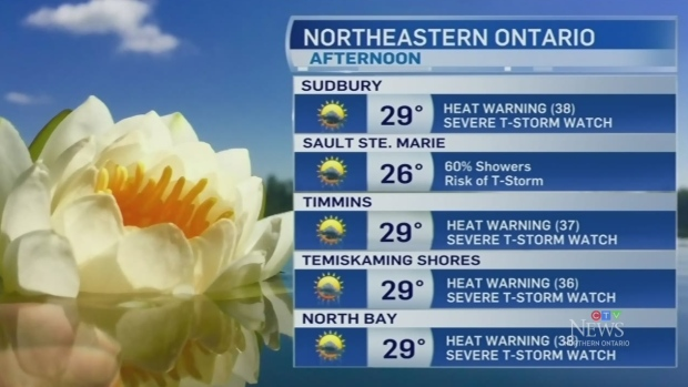Humid weather with a chance of showers for some
