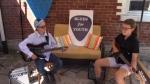 Kardin and Tegan Penner perfecting the guitar skills. (Scott Miller / CTV London)