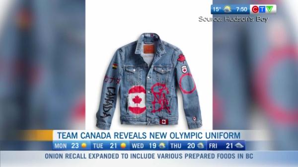 Team canada new Olympic uniform