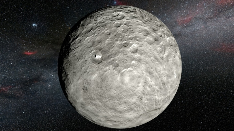 Ceres is the largest object in the asteroid belt between Mars and Jupiter and has its own gravity. (AFP)