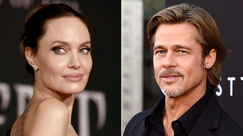 "This combination photo shows Angelina Jolie at the world premiere of ""Maleficent: Mistress of Evil"" in Los Angeles on Sept. 30, 2019, left, and Brad Pitt at the special screening of ""Ad Astra"" in Los Angeles on Sept. 18, 2019. Jolie asked Monday that the private judge overseeing her divorce from Pitt be disqualified from the case because of insufficient disclosures of his business relationships with one of Pitt's attorneys. In a filing in Los Angeles Superior Court, Jolie argues that Judge John W. Ouderkirk should be taken off the divorce case because he was too late and not forthcoming enough about other cases involving Pitt attorney Anne Kiley. Pitt's attorneys did not immediately respond to an email seeking comment. (AP Photo)"