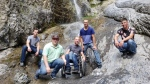 Willy Peters, Cornie Klassen, Aaron Friesen, Benny Thiessen and Alvin Wolf at Grotto Canyon on Aug. 2, 2020 (supplied)