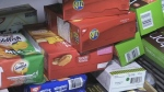 Crackers at the North Bay Food Bank. Aug. 10/20 (Eric Taschner/CTV Northern Ontario)