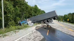 A crash at Cockshutt Road and St. John's Road in Norfolk County, Ont. on Monday, Aug. 10, 2020. (Source: OPP)