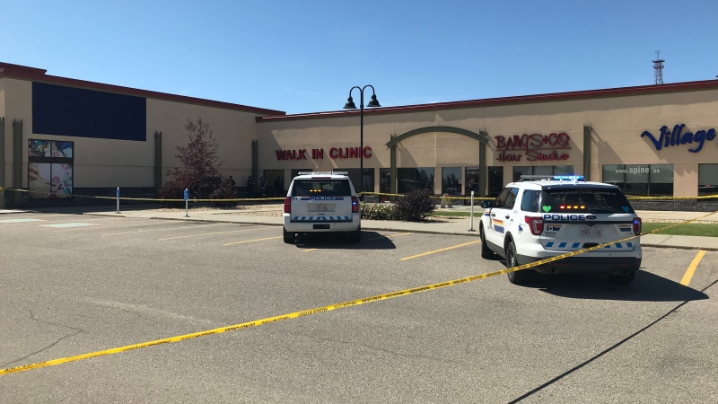 Red Deer RCMP have one man in custody after an assault at Village Mall left one person in serious, life-threatening condition Monday, Aug. 10, 2020. (CTV News Edmonton)
