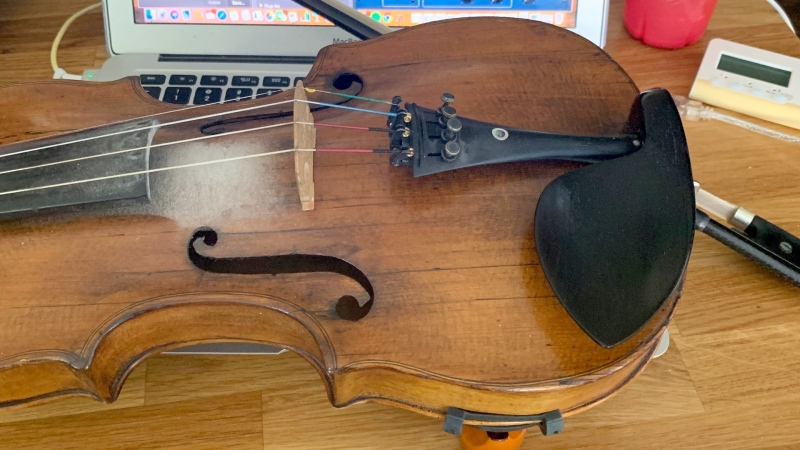 This Hopf fiddle was stolen from a vehicle in Sundance on Sunday. (Courtesy Lynsey MacRitchie)