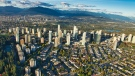 Metropolis at Metrotown is seen from the air in Burnaby, B.C., in spring 2019.