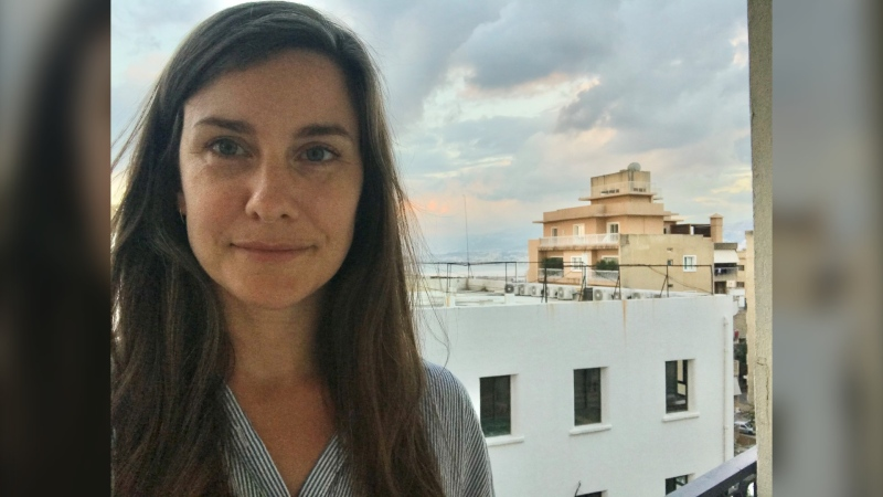 Stephanie Dyck is pictured in Beirut, Lebanon in an undated image. Dyck was at a grocery story fewer than two kilometres from the Beirut port when an explosion occurred on August 4, 2020. (Source: Stephanie Dyck)