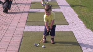 2 year old Jack Cantin Golfer