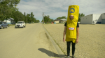 The Pense Noodle Boy hopes people can get excited about the town winning Kraft Hockeyville. (CTV News)
