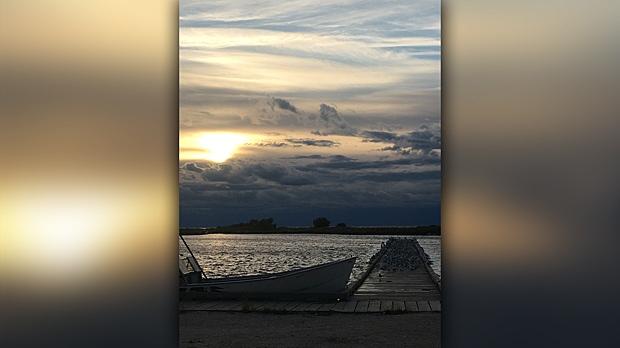 The shore of Cedar Lake, Manitoba Chemawawin Cree Nation. Photo by Kevin Arrow.