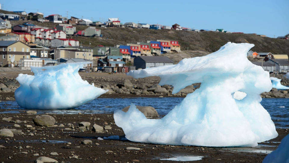 Sea ice melts in Frobisher Bay, Iqaluit, Nunavut on Wednesday, July 31, 2019. THE CANADIAN PRESS/Sean Kilpatrick