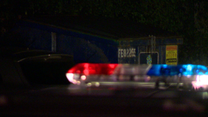 Laval police are investigating after the body of a premature baby was found in a dumpster behind an apartment building on Monday night / Cosmo Santamaria, CTV Montreal