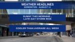 August 11 weather headlines