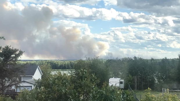 The view of the fire from Cochenour. (Source: Facebook/Chase William)