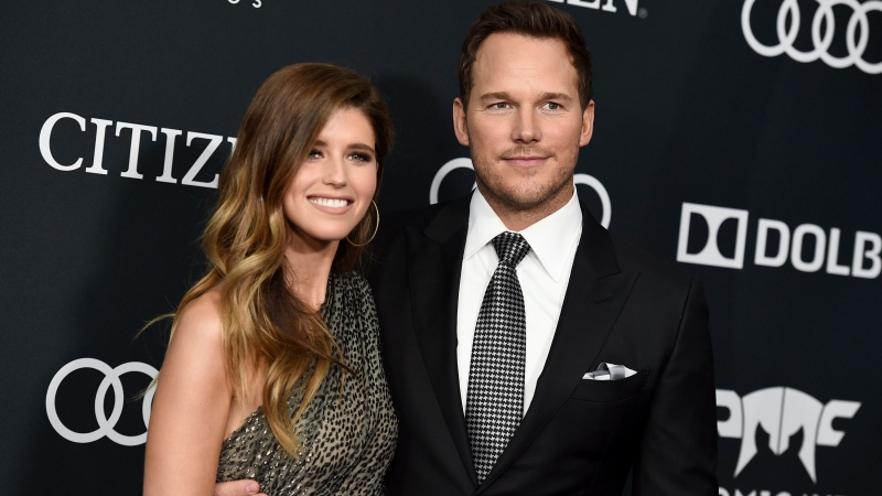 Katherine Schwarzenegger, left, and Chris Pratt arrive at the premiere of 'Avengers: Endgame' in Los Angeles on April 22, 2019. (Photo by Jordan Strauss/Invision/AP, File)